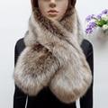 Новое прибытие зима искусственного меха енота шарф поддельные меха лисы глушитель женщин искусственного меха воротник красочные лоскутная шарф экологичный
