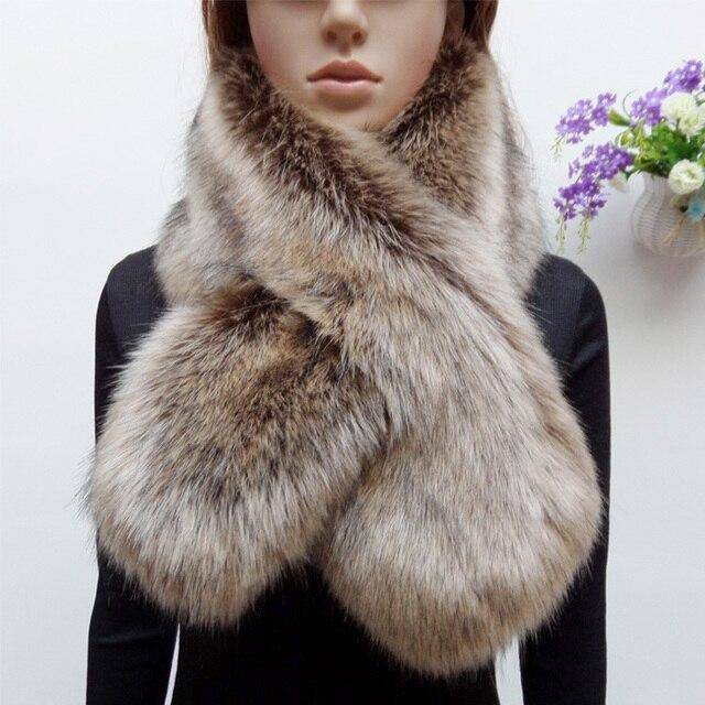 l'atteggiamento migliore 9611a 97a9c US $13.99 |Nuovo arrivo di inverno faux procione sciarpa di pelliccia finta  pelliccia di volpe donne colletto in pelliccia sintetica patchwork ...