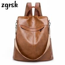 цены Female Women's Backpack Korean Style Classic Pu Solid Zipper None Black Casual School Backpacks For Teenagers Mochila Bookbags