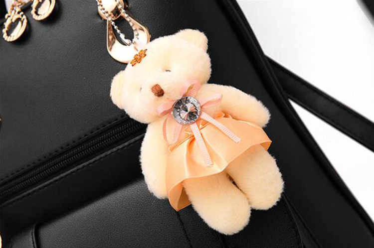 HTB1vDIAkpkoBKNjSZFkq6z4tFXa1 Preppy Style Women Backpack Bear Toys PU Leather Schoolbags for Teenage Girls Female Rucksack Shoulder Bag Travel Knapsack