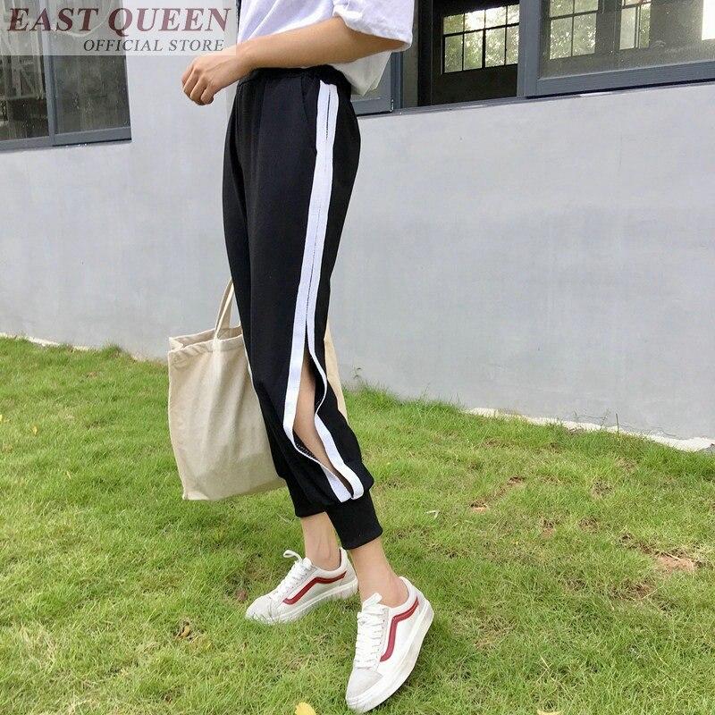 Open side track pants women harem cargo joggers women sweat pants female trousers sweatpants casual trackpants AA3517