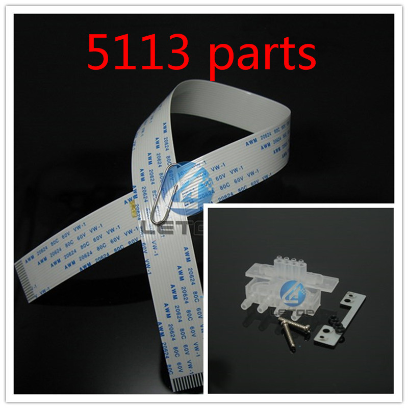 8 PCS 5113 Head Cable 16pins 40cm+4 PCS 5113 Head Adapter /5113 Printhead Transfer Tool Device head cable dx5 head head dx5 - title=