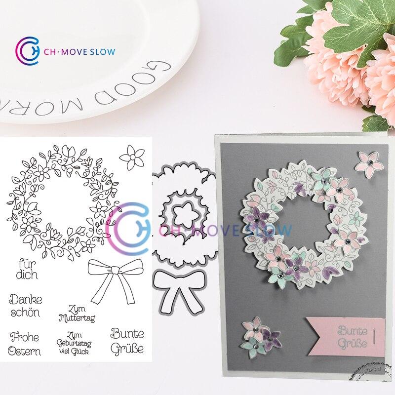 CH Bloom /& Grow Bundle Stencils die and stamps for DIY Scrapbooking//photo Album