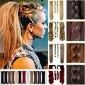 """14 цветов! Длинные хвостики 120 г 18 """" 45 см женщины вьющиеся хвост наращивание волос обернуть вокруг хвост волосы кусок Mutlicolor"""