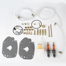 Motorcycle Carburetor Master Rebuild Kit Throttle Shaft Spring For Harley Super E Model