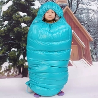 The New Saint Kid High Wing Ma Children Pengsong Outdoor Travel Down White Goose Warm Sleeping