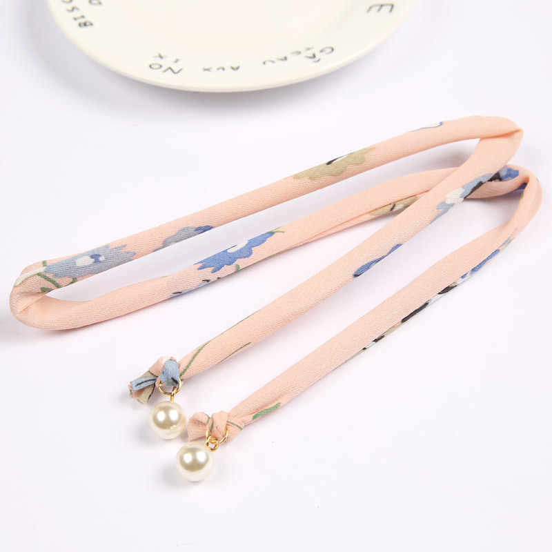 Puerta este de Corea del Sur compra tela de perlas arte alambre diadema hermosa con un paño