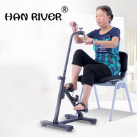 Onset of exercise rehabilitation old man hands stroke hemiplegia training equipment machine walker bicycle massage