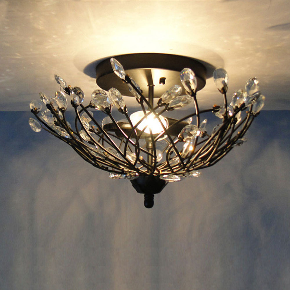 Lighting Warehouse Branches: Aliexpress.com : Buy Black Crystal Lampshade Tree Branch