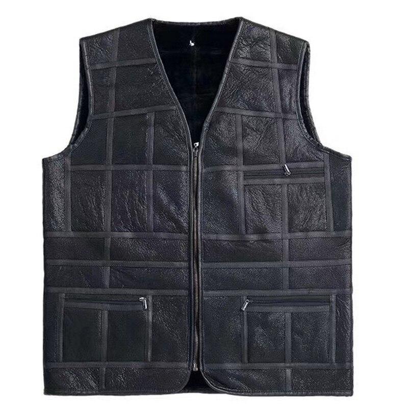FXFURS 2019 Men 100 Real Wool Fur Vest Super Luxury Fashion Fur Waistcoat Double face Lamb