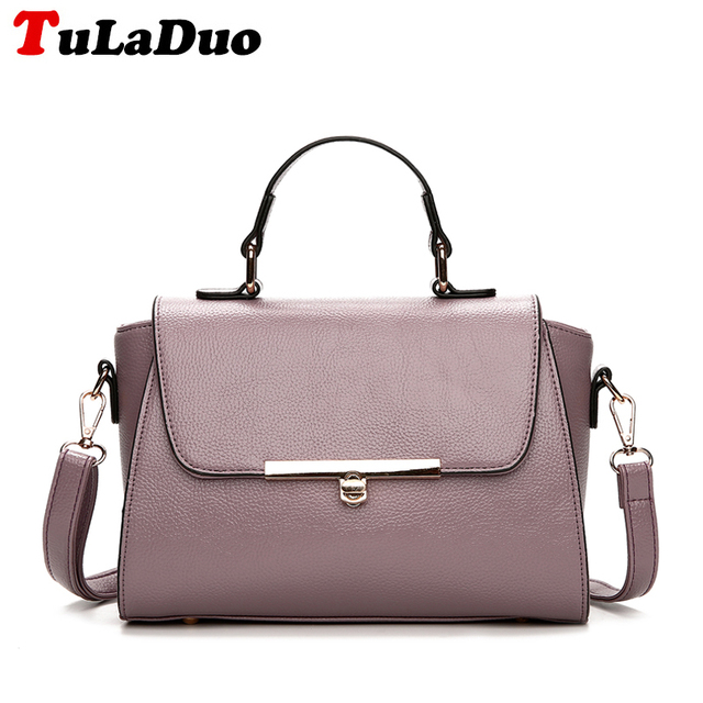 dc5878d09e1c 2018 Fashion PU Leather Women Handbags Solid Shoulder Bag High Quality  Casual Small Women Crossbody Bag