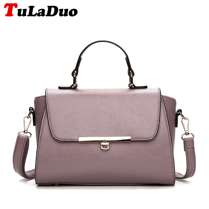 2018 Fashion PU Leather Women Handbags Solid Shoulder Bag High Quality Casual Small Women Crossbody Bag Tote Messenger Bag bolsa