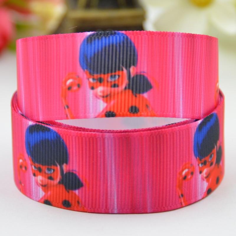 7/8 »(22 мм) lady Bug с героями мультфильмов Grosgrain ленты вечерние украшения, атласные ленты x-01418 OEM 10 метров