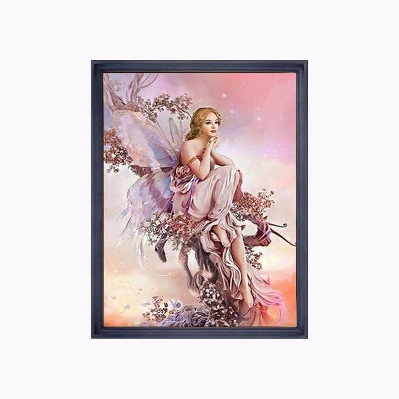 f9e7a746c1 45*32cm DIY 5D Diamond painting cross stitch Round diamond 3D Diamond  Stitch Tools Kit diamond mosaic Room Decor Butterfly Fairy-in Diamond  Painting Cross ...