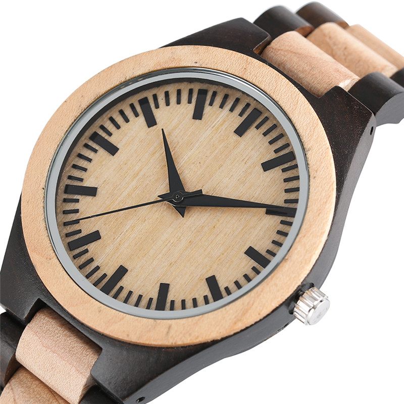 Luxury Nature Maple Wood Quartz Watch for Men Casual Classic Full Wooden Band Bamboo Wristwatches Bangle Clocks Male Timepiece simple brown bamboo full wooden adjustable band strap analog wrist watch bangle minimalist new arrival hot women men nature wood