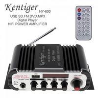 Kentiger HY 600 2CH HI FI Car Audio Power Amplifier FM Radio USB MP3 Stereo Digital