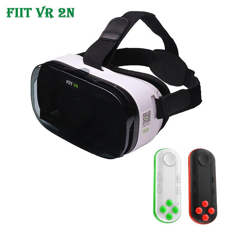 Fiit 2N <font><b>VR</b></font> Cardboard 3D Glasses for Samsung <font><b>Virtual</b></font> <font><b>Reality</b></font> Headset vrbox <font><b>Head</b></font> <font><b>Mount</b></font> <font><b>Video</b></font> <font><b>Helmet</b></font> + Bluetooth Controller