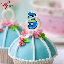 Creative Boy Number 5 Candle Cake Ages Party Kids Birthday Decorations Colorful Supplies