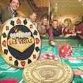 De alta calidad chapado en oro moneda Tarjeta de póquer guardia moda estilo Las Vegas muestra moneda protege Las cartas en tu mano