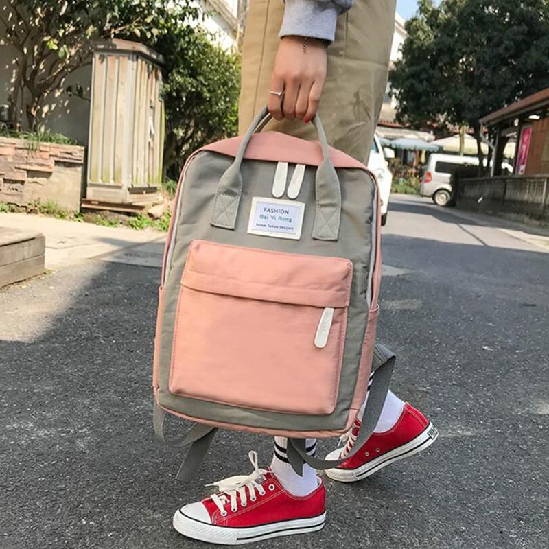 HTB1vDKvdi6guuRjy0Fmq6y0DXXaX Yogodlns Campus Women Backpack School Bag for Teenagers College Canvas Female Bagpack 15inch Laptop Back Packs Bolsas Mochila