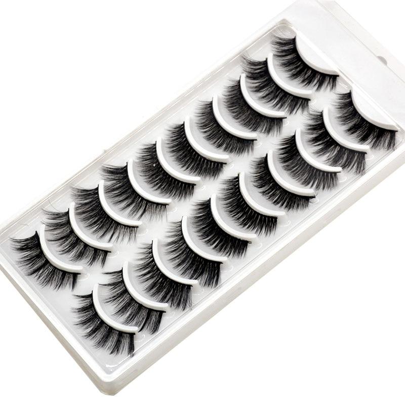 16ec4d03b5d Mink Soft False Eyelash Extension Makeup Kit. 2018 NEW 10 pairs 100% Real  Mink Eyelashes 3D Natural ...