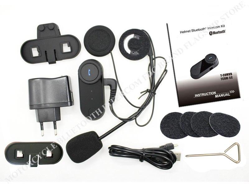 HELA PRIS! Uppdaterad version !! 4PC Motorcykelhjälmar BT Bluetooth - Motorcykel tillbehör och delar - Foto 6