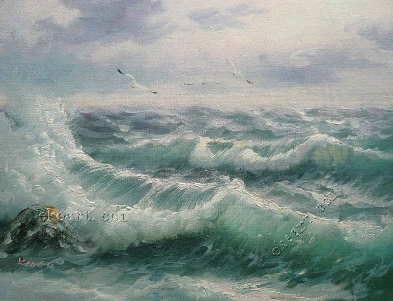 The living room wall picture high quality ocean waves foam for 12x16 living room