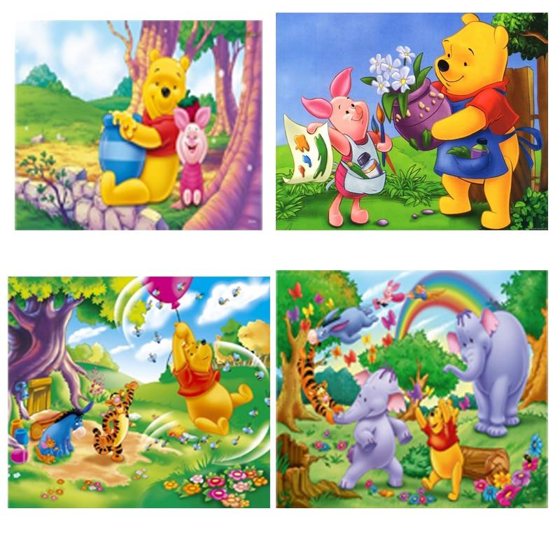 Diamond Painting Square/Round Drill Daimond Spraying Water Winnie The Pooh Elephant Cartoon Mosaic Rhinestone
