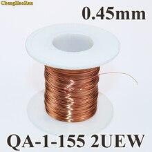ChengHaoRan 0.45mm 1 m Poliüretan emaye yuvarlak tel hattı 1 metre satışından QA 1 155 2UEW
