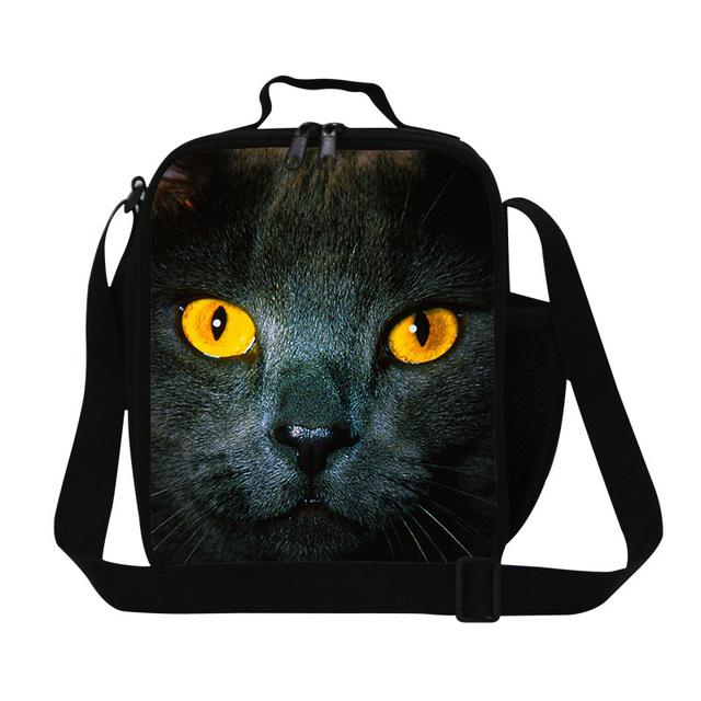 personalized cute cat  insulated lunch bag,Cool Animal lunch cooler bags for boys,Best picnic bag for children adult meal bags