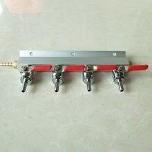 4 ходовой распределительный коллектор co2 брусок для системы