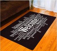 Woonkamer carpet mode amerikaanse stijl matten antislip pad carpet zwart korte