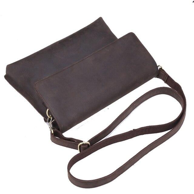 Vintage Messenger Bag Men Women Shoulder Envelope Bags Handmade Genuine  Leather Business Recruitment Agent Support Drop a2034a0d3cad9