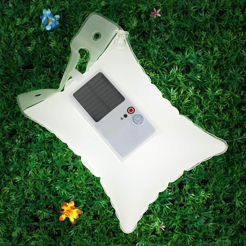Waterproof Air Bag Solar Light Outdoor Solar Inflatable Camping Light IP65 Waterproof Folding LED Emergency Lamp