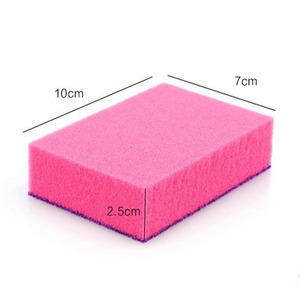Image 5 - 1 Pcs Double sided Dual use Nano ceram Color Magic Sponge Cleaning Rust Decontamination Sponge Free shipping
