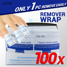 100Pcs/lot Nail Art Gel Polish Lacquer Easy Remover nail Wraps Magic Nail Polish UV Gel Remover Nails Care Tools