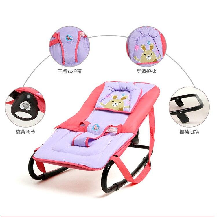 Fauteuil à bascule bébé fauteuil inclinable chaise apaisante bébé berceau musique vibrant bébé magique portable pliant - 5