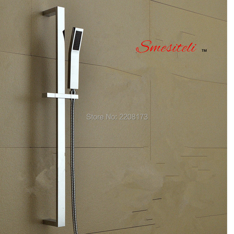 Smesiteli Factory Outlet Brass Hand Shower Rail Sliding Bar Set,With Brass Handheld Shower And 1.5m Hose Wall Mounted custom 3d photo wallpaper european minimalist bedroom living room tv backdrop painting arches 3d stripe abstract mural wallpaper