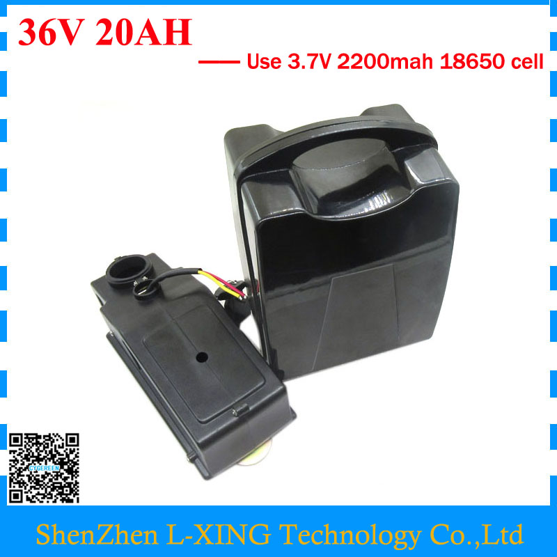 Free customs duty 36V 20AH BIKE battery 1000W 36 V 20AH lithium battery Use 2200mah 18650 cell 30A BMS with 42V 2A Charger