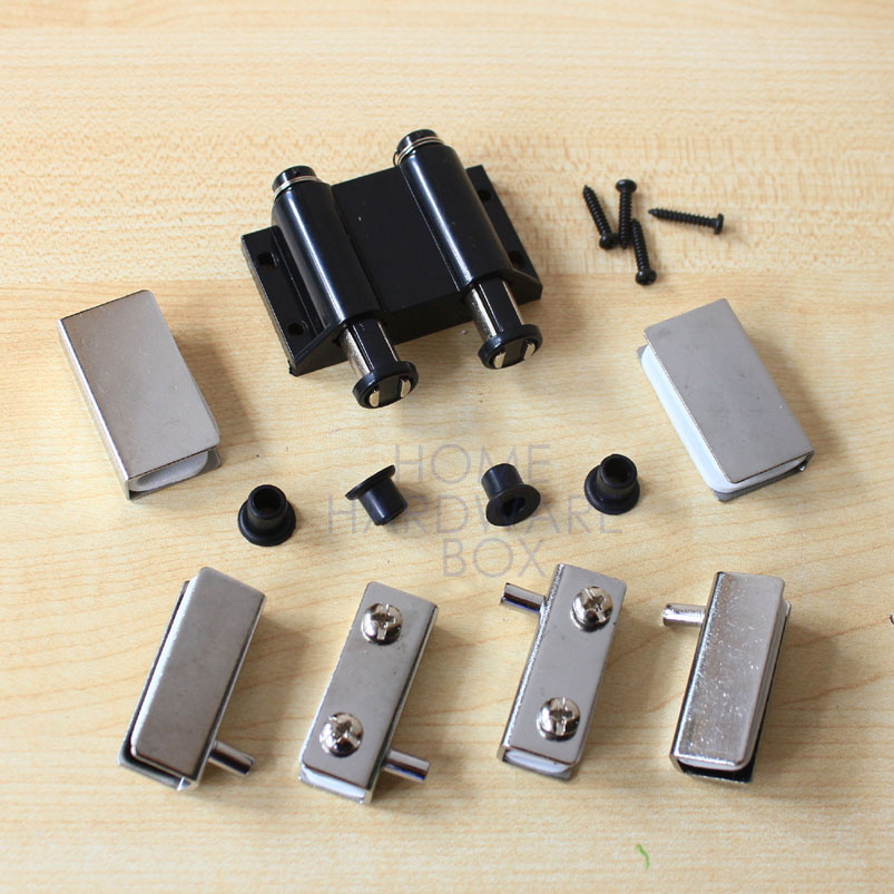 Cabinet Cupboard Double Glass Door Magnetic Catch Set Latch Press