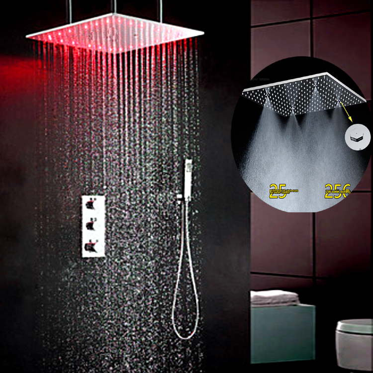 ⊱Bathroom Shower Wall Concealed Shower Head Set Hot Cold Faucet ...