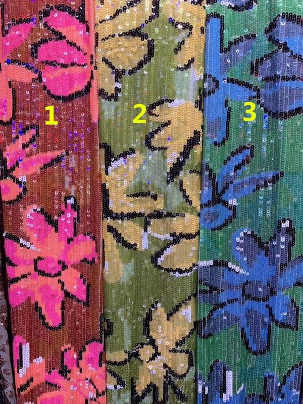 JIANXI.C 5608 ricamato Africano del merletto di paillettes tessuto di pizzo 5 yards Francese del merletto per il vestito da partito-in Pizzo da Casa e giardino su  Gruppo 1
