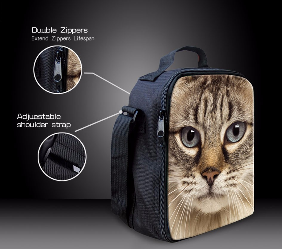 5f0a2f03f0 Aliexpress.com   Buy Brand Thermal Insulated Lunch Bag for Kid Cute Cat Dog  Bento Lunch Box Denim Blue Portable Cooler Picnic Food Bags Lunch Storage  from ...