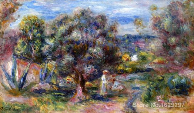 oil reproductions of famous Pierre Auguste Renoir paintings Aloe, Picking at Cagnes Hand-painted High quality