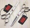 Envío RÁPIDO!! tijeras de pelo profesional KASHO 6 pulgadas 440C de alta calidad barber salon tijeras de peluquería tijeras de corte