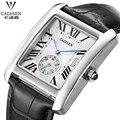Brand CADISEN Men Watches Fashion Men Military Quartz Wristwatches Luxury Genuine Leather Watches Waterproof Relogio Masculino