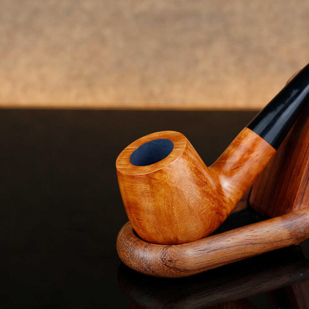 Винтажная изогнутая курительная трубка, бесплатные инструменты, подарочный набор из шиповника, Труба 9 мм, фильтр для табачной трубы, набор с гравировкой