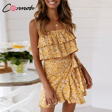 f293dc576 Strapless Yellow Dress - Compra lotes baratos de Strapless Yellow ...