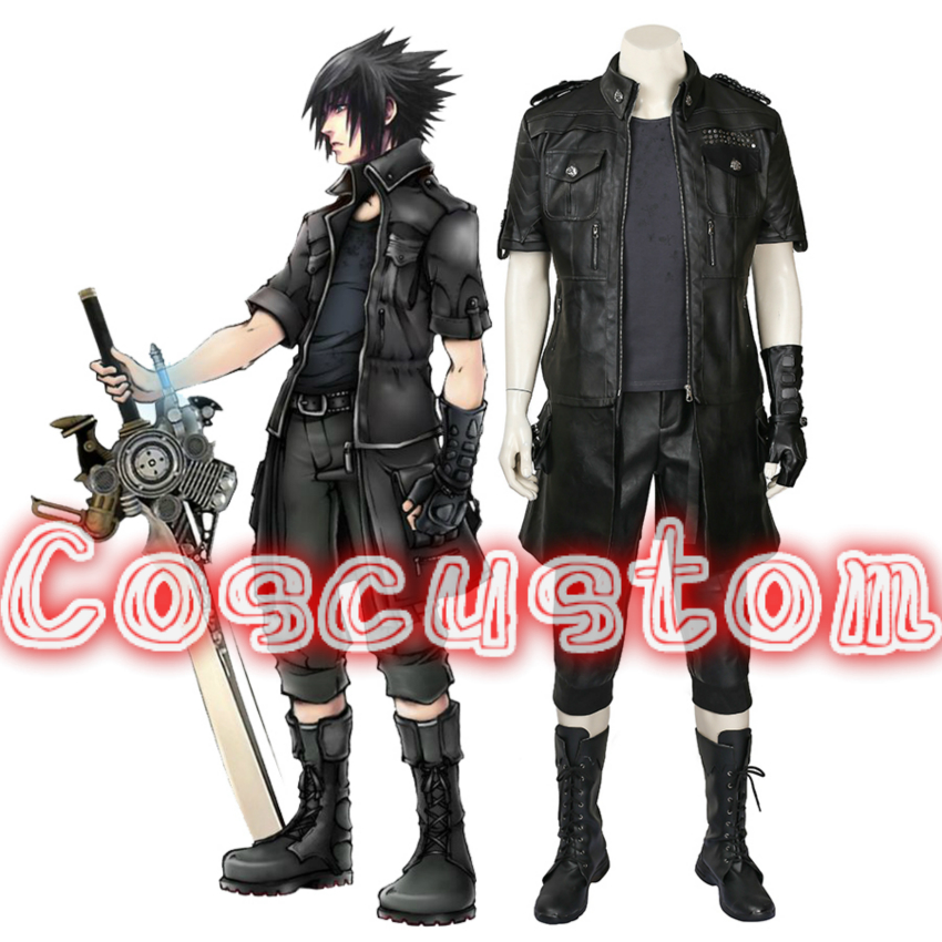 Coscustom High Quality Final Fantasy XV Noctis Lucis Caelum Cosplay Costume popular Game Costume adult men Cosplay Costume