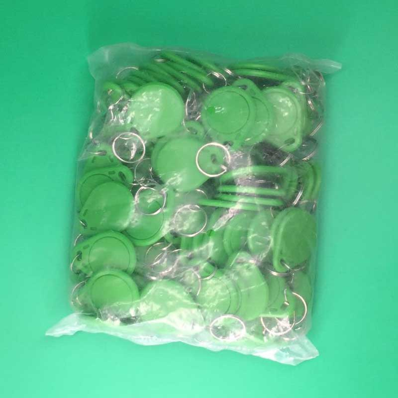 100pcs RFID Tag Proximity ID Token Tags  125Khz RFID Card Chip ID em4100 for Access Control Time Attendance Green Color waterproof contactless proximity tk4100 chip 125khz abs passive rfid waste bin worm tag for waste management